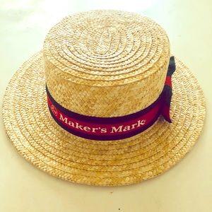 Maker's Mark boater straw hat